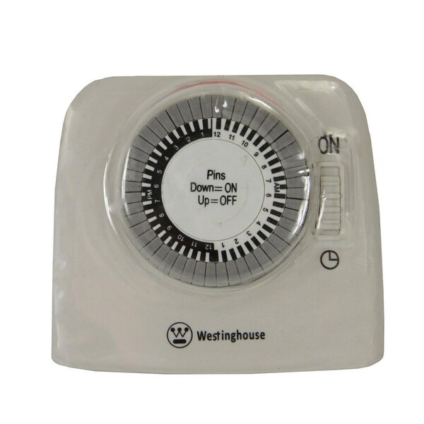 Westinghouse 2-Outlet 24-Hour Heavy Duty Mechanical Pin Lamp Timer