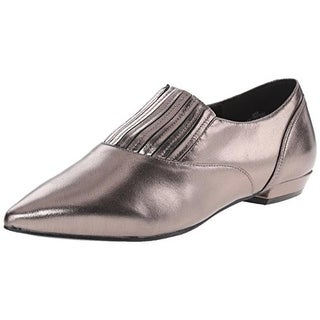 Nine West Womens Trendy Leather Pointed Toe Flats