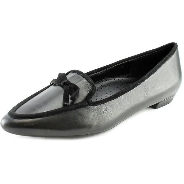 Vaneli Gada Women N/S Pointed Toe Leather Black Flats