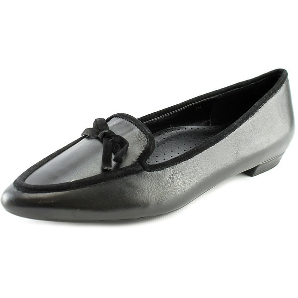 Vaneli Gada Women W Pointed Toe Leather Black Flats