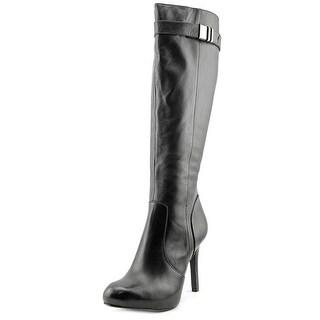 Alfani Jada Women Round Toe Leather Knee High Boot
