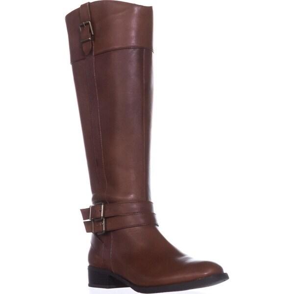 I35 FrankII Wide Calf Riding Boots, Cognac