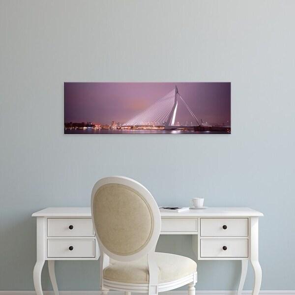 Easy Art Prints Panoramic Images's 'Erasmus Bridge, Rotterdam, Holland, Netherlands' Premium Canvas Art