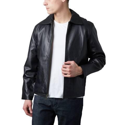 Men's James Dean Black Lamb Leather Jacket