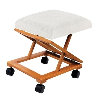 """Support Plus Foldable Rolling Tapestry Footrest and Fleece Cover Kit - 12""""W x 15 1/2""""L x 14""""H"""
