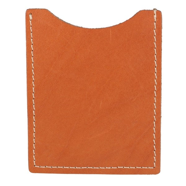 CTM® Men's Leather Slim Credit Card Sheath - One size