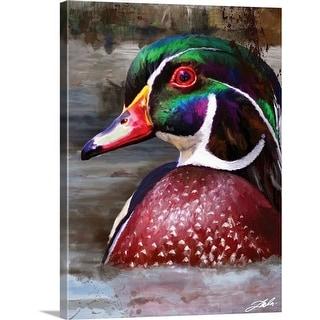 """Wood Duck"" Canvas Wall Art"