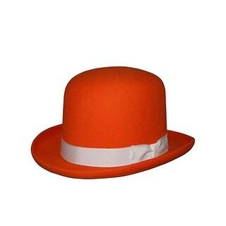 Tall Derby Bowler Hat in Orange