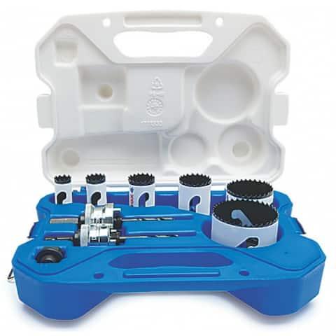 Lenox 30860C600P Plumber's Speed Slot Bi-Metal Hole Saw Kit, 10-Piece