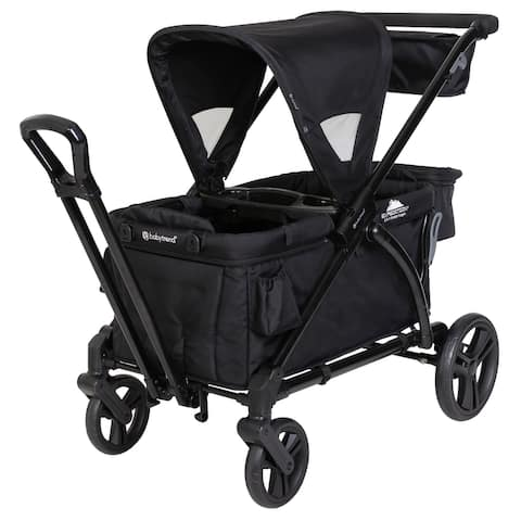 Baby Trend Expedition 2 in 1 Stroller Wagon Plus, Ultra Black