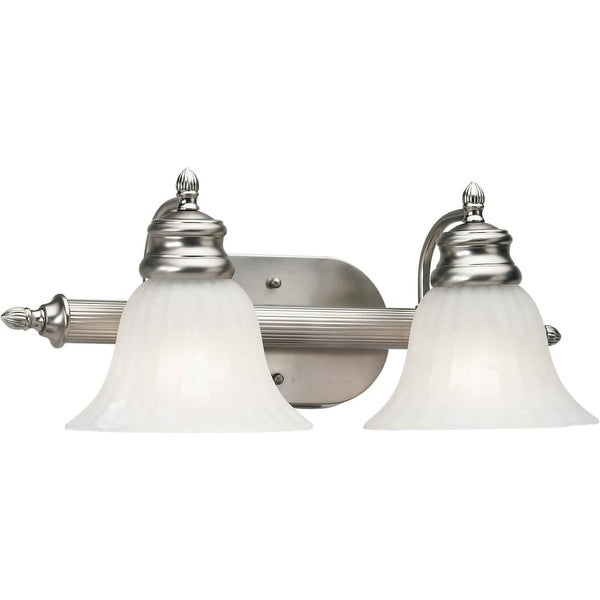 """Forte Lighting 5038-02 2-Light 18"""" Wide Bathroom Fixture from the Bath Collection - Brushed nickel - n/a"""