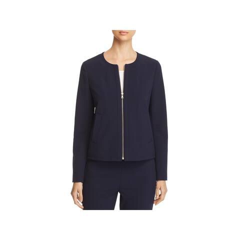 Donna Karan Womens Winter Garden Collarless Blazer Casual Work Wear