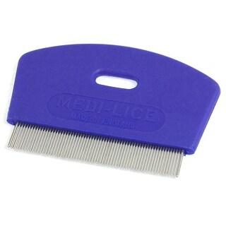 """Unique Bargains 2.7"""" Pet Dog Cat Metal Teeth Massaging Grooming Flea Comb Blue"""