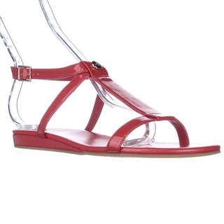 Cole Haan Paz T-Strap Flat Sandals - Fiery Red