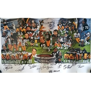 1970's Pittsburgh Steelers (52) Signature 20x39 Dynasty Lithograph PSA P12249