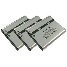 New Replacement Battery LI50B For OLYMPUS Camera Models ( 3 Pack )