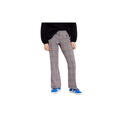 Free People Womens Trouser Pants Plaid Flare