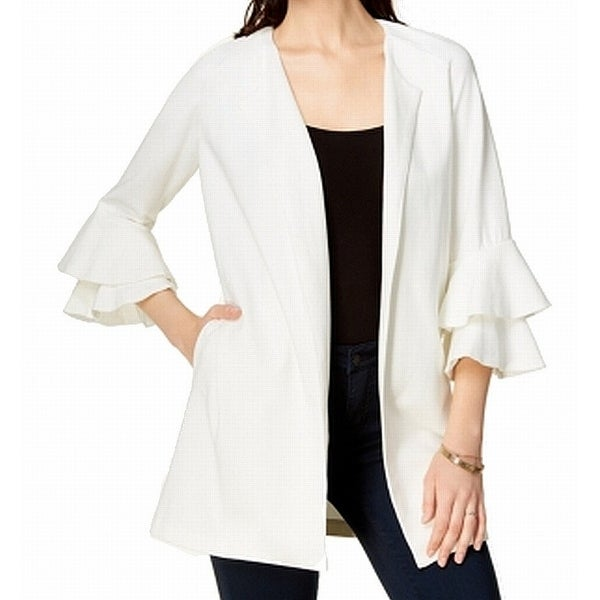 482ac2b68d Shop Kensie NEW White Ivory Women s Size Small S Tiered Bell-Sleeve Jacket  - Free Shipping On Orders Over  45 - Overstock - 21531661