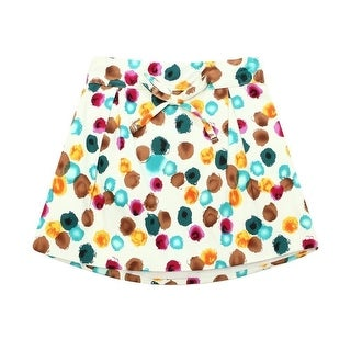 Richie House Little Girls Multi Color Bow Inverted Pleats Skirt 2-6