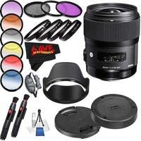 Sigma 35mm f/1.4 DG HSM Art Lens International Version (No Warranty) Professional Accessory Combo