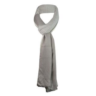 Style & Co. Women's Metallic Colorblocked Wrap Scarf - os
