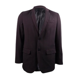 Kenneth Cole Reaction Men's Parlaiment Two-Button Blazer (Plumberry Combo, M) - plumberry combo - M