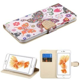 Insten Colorful Butterfly Wonderland Leather Case Cover with Stand/ Wallet Flap Pouch/ Diamond For Apple iPhone 7 Plus