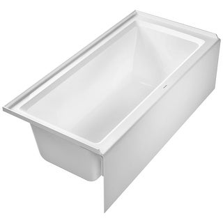 """Duravit 700408000000090 Architec 66"""" Acrylic Soaking Bathtub for Alcove Installations with Left Drain - White - N/A"""