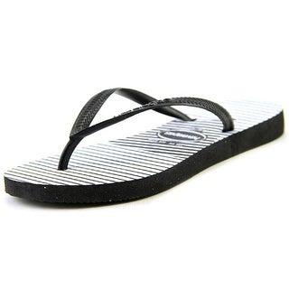 Havaianas Slim Graphic Open Toe Synthetic Flip Flop Sandal
