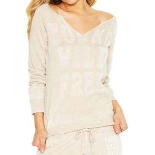 Guess Womens Casual Top Distressed Printed