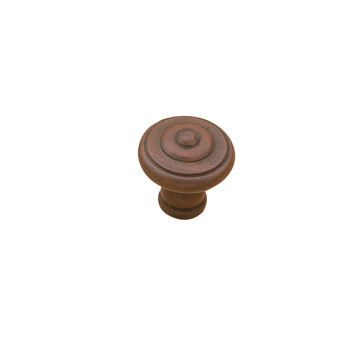 Richelieu BP5120430  1-3/16 Mushroom Cabinet Knob - Antique Rust