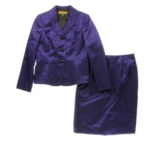 Kasper Womens Renaissance Printed 2PC Skirt Suit - 8