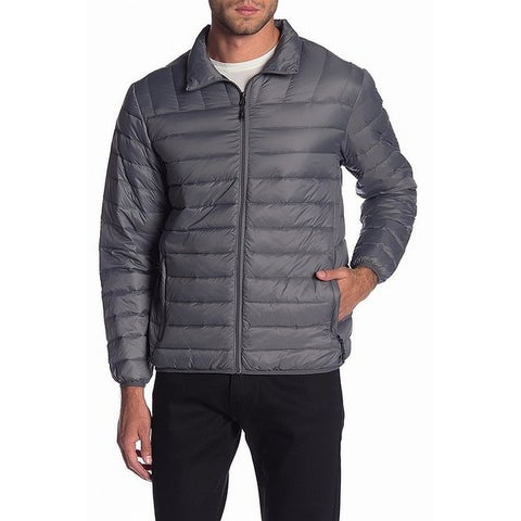 HAWKE & CO. Gray Mens Size Large L Quilted Packable Down Jacket