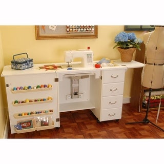Arrow Norma Jean Model 351 Sewing Machine Table Cabinet In White