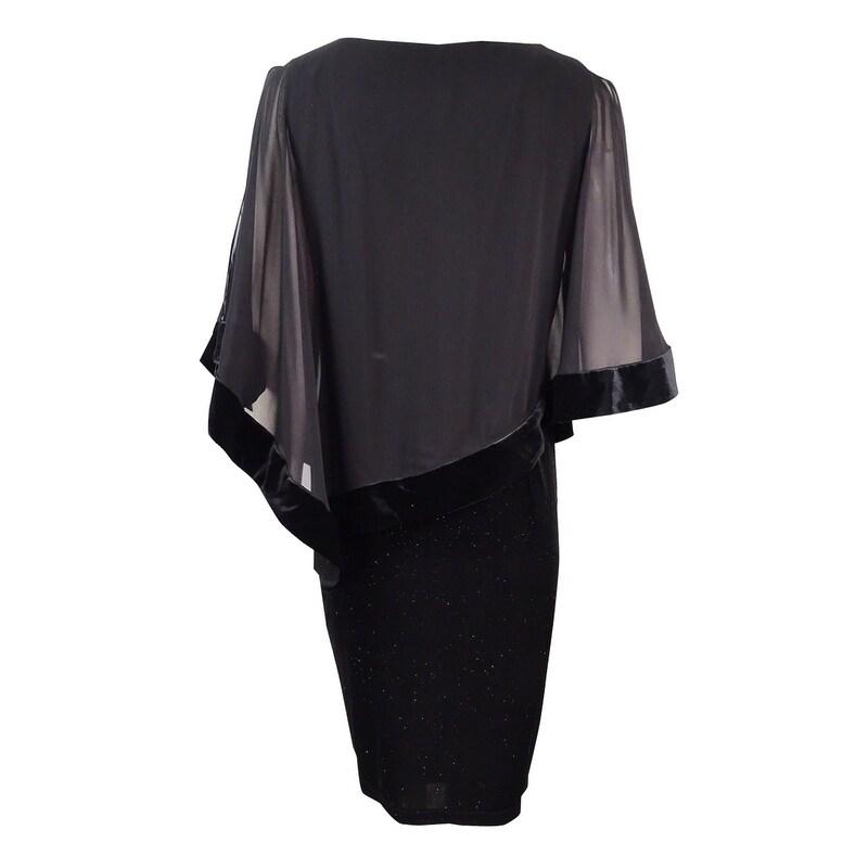 a377b1fa99fa4 Shop MSK Women's Velvet Chiffon-Overlay Dress - Black - On Sale - Free  Shipping Today - Overstock - 18302261