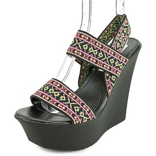 Madden Girl Sabel Open Toe Canvas Wedge Sandal