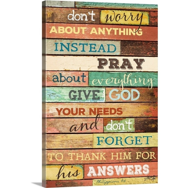 """""""Don't Worry"""" Canvas Wall Art. Opens flyout."""