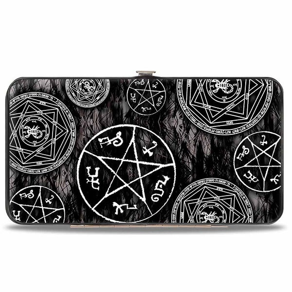 Supernatural Devil's Trap Pentagrams Grays Black White Hinged Wallet - One Size Fits most