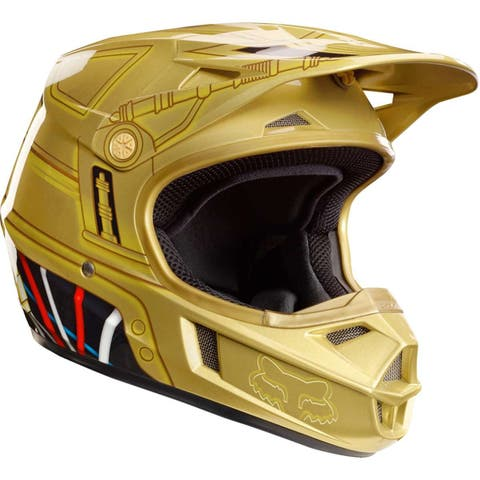 Fox Racing 2017 Men's Youth V1 C3Po Le Helmet - 18535 - GOLD