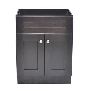 "Design House 559047  Brookings 24"" Single Free Standing Wood Vanity Cabinet Only - Espresso"