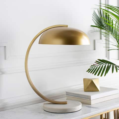 Telnice Table Lamp with Gold Base and Gold Shade