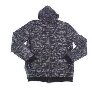 Travis Matthew Gray Mens Size XL Full Zip Printed Hooded Sweater