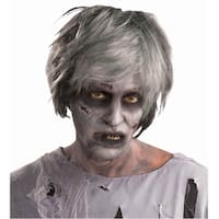 Creature Zombie Adult Costume Wig - gray
