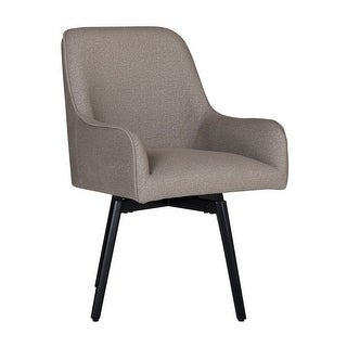 Offex Home Spire Luxe Swivel Dining/Office Chair with Arms and Metal Legs in Camel Beige