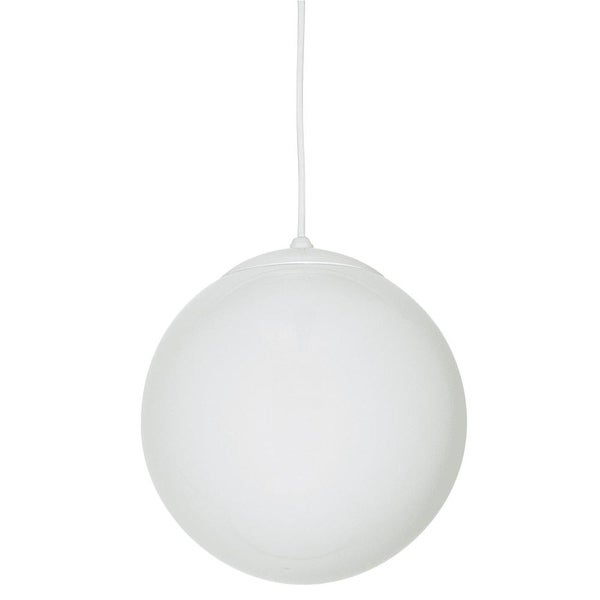 """Sunset Lighting F3401 1-Light 75 Watt 8"""" High Foyer Pendant - White"""