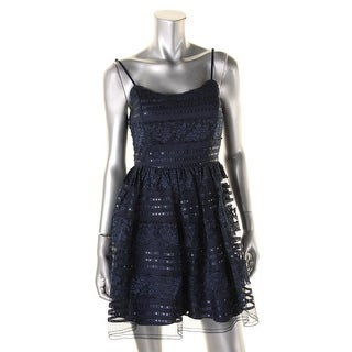 Emerald Sundae Womens Juniors Embellished Adjustable Strap Party Dress - 9