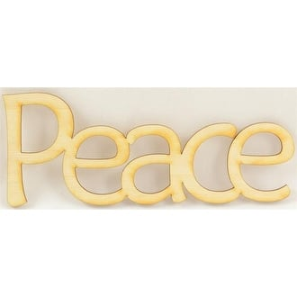 """1 Pc, 6.5"""" X 2.5"""" Bold & Flat Black Welded Word Peace For Home & Events Decor"""