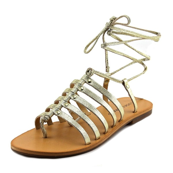 Lucky Brand Colette Women Open-Toe Leather Gold Slingback Sandal