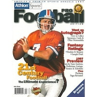 8f6754b3d John Elway unsigned Denver Broncos Athlon Sports 1997 NFL Pro Football  Preview Magazine