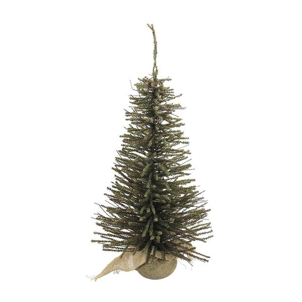 2.5' Warsaw Twig Artificial Christmas Tree with Burlap Base - Clear Lights
